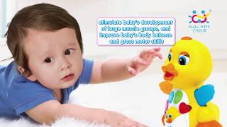 Flapping Yellow Duck Infant Brinquedos Bebe Electrical Universal Toy for Children