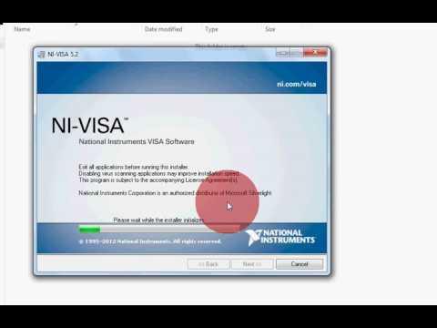 NI-VISA5.2 Driver installation( tut2 )