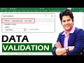 Data Validation in Excel [ Hindi ] - Best Ever Explanation