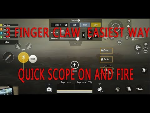 3 FINGER CLAW EASIEST SETTING PUBG MOBILE | QUICK SCOPE ON AND FIRE | SCOPE N PEEK CONTROL EXPLAINED