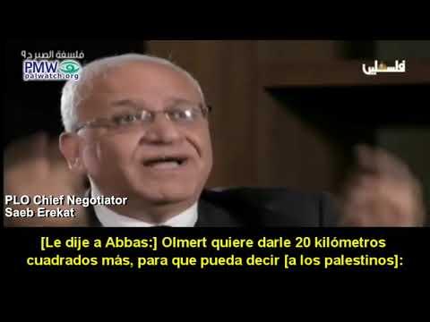 """""""Olmert ofreció a Abbas más del 100% de Cisjordania, y Abbas de todos modos rechazó el acuerdo de paz"""""""