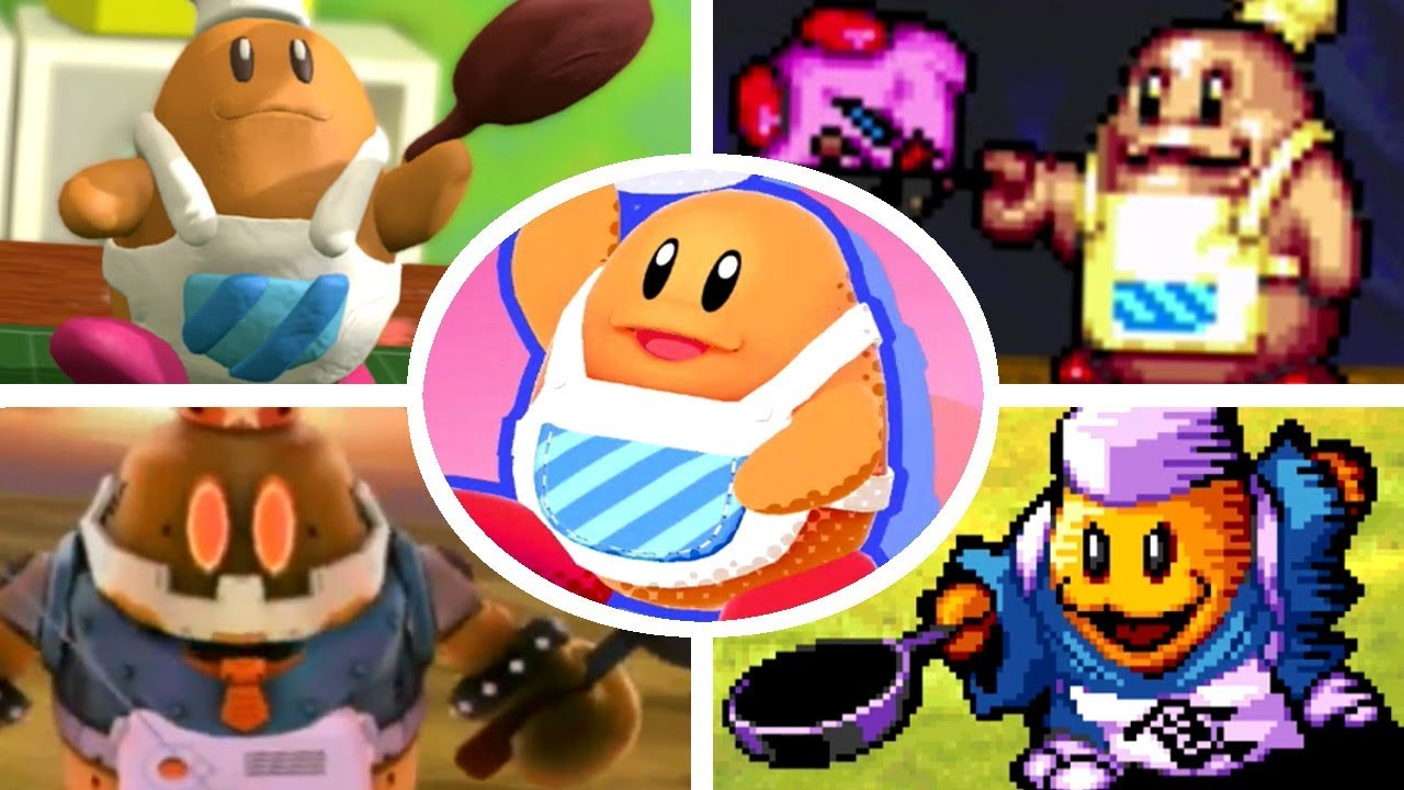 all chef kawasaki battles appearances in kirby games 1996 2018