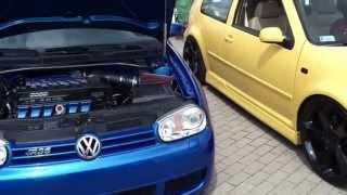 golf r36 vs golf v6 2 8 engine sound