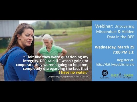 Webinar: Uncovering Misconduct & Hidden Data in the DEP