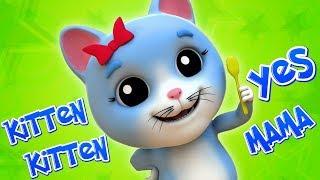 Киттен Киттен так мама | Мультфільми для дітей | Kitten Kitten Yes Mama | Kids Baby Club Russia