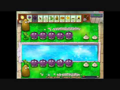 "Plants vs Zombies strategy for ""Last Stand"" - estrategia para ""El ultimo batallon"""