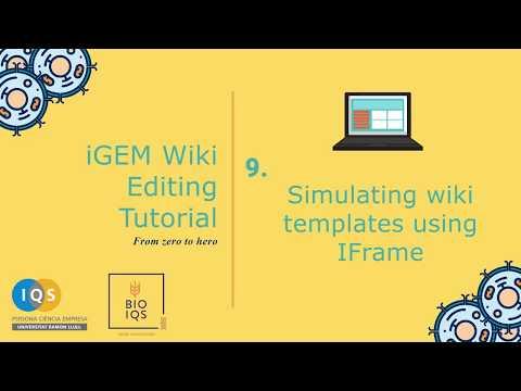 9. Simulating wiki templates using IFrame
