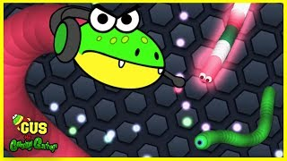 Let's Play Slither.io Episode 2 with Gus the Gummy Gator