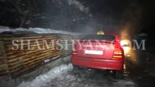 Հրդեհ Երևանում  Սարի Թաղ 26 փողոցում ամբողջությամբ այրվել է Opel ի առջևի հատվածը