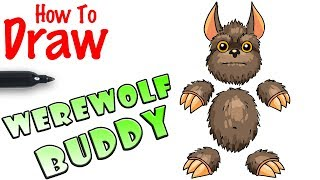 How to Draw Werewolf Buddy | Kick the Buddy
