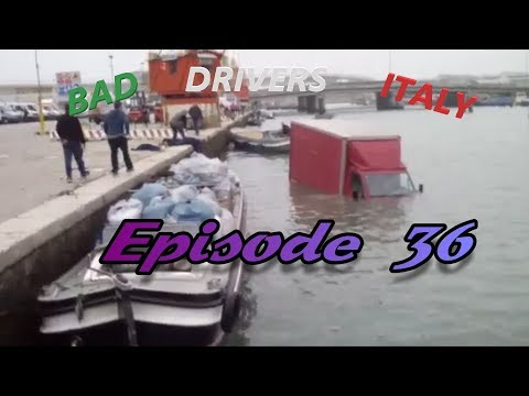 Bad Drivers on Italy Streets + Car Crash // DashCam Episode 36