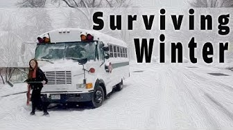 HOW TO STAY WARM living in a bus during winter | tips!