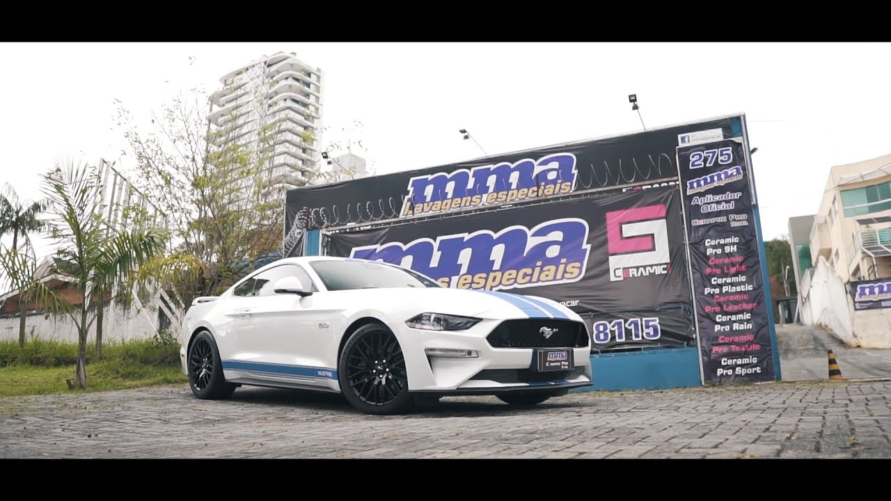Ford Mustang White GT 2019 - Protected with Ceramic Pro