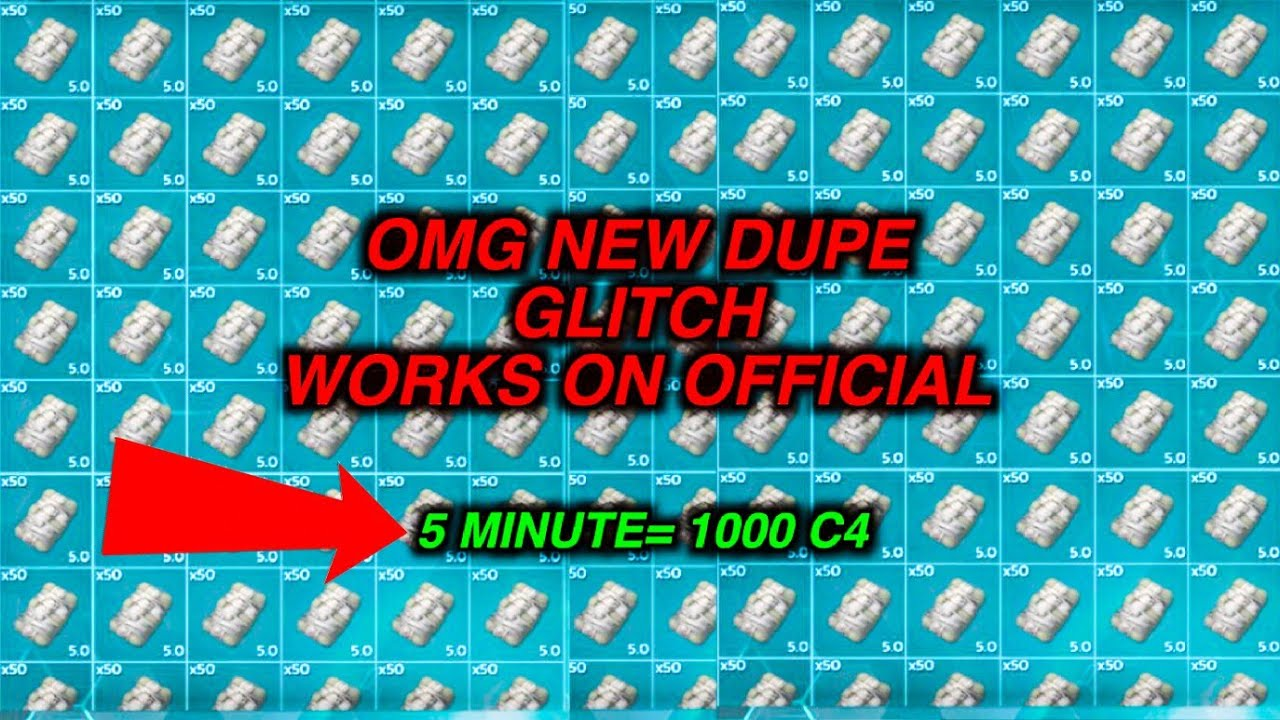This new GLITCH allows you to dupe c4! (Ark official servers)(full  explanation)!