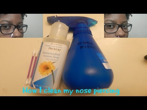 How I clean my nose piercing | KurlyKeeks