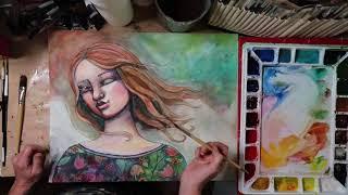 """Ariel"" Speed Painting"