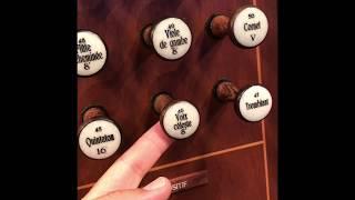 Pipe Organ Stops - Bales Recital Hall