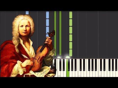 The Four Seasons - Winter - Antonio Vivaldi [Piano Tutorial] (Synthesia)