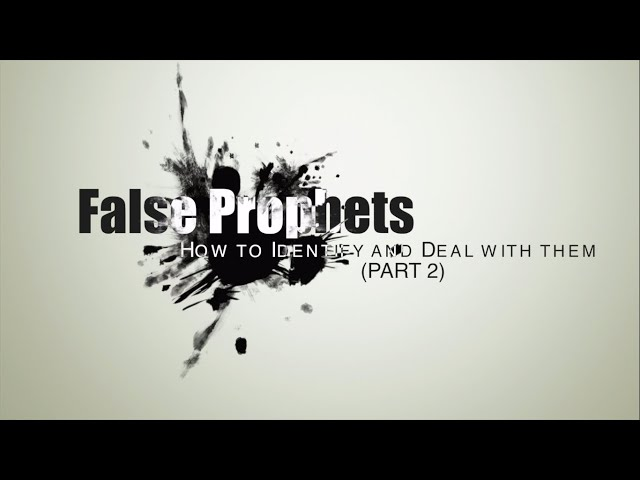 False Prophets: How to identify and deal with them Part - 2 |House Of Prayer |Ps Thomas Jayaraj