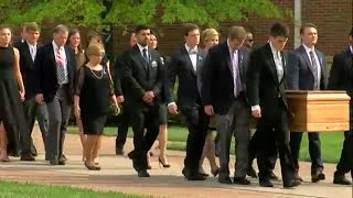 Otto Warmbier's casket carried out of Wyoming High School