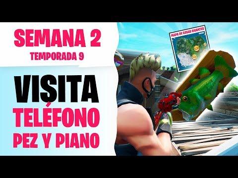 VISITA UN TELÉFONO ENORME, UN PIANO MUY GRANDE Y UN TROFEO DE PEZ BAILARÍN GIGANTE   Fortnite T9