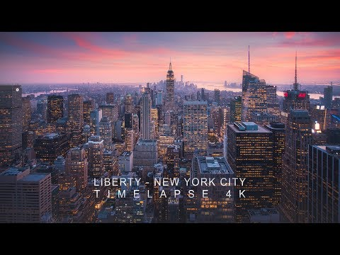 Liberty - New York City Timelapse 4K