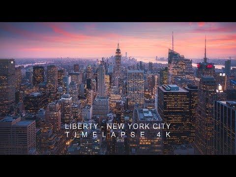 Liberty - New York City Timelapse 4K