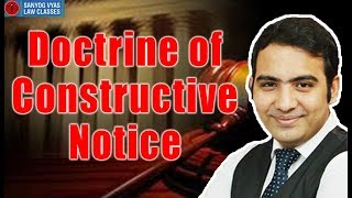 Doctrine of Constructive Notice By Advocate Sanyog Vyas thumbnail