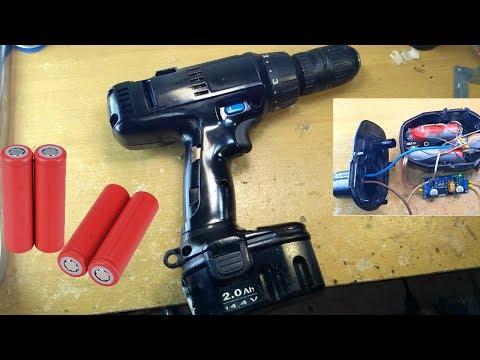 Akkus fúró hibás akku javítása (Drill battery nicd to lithium)