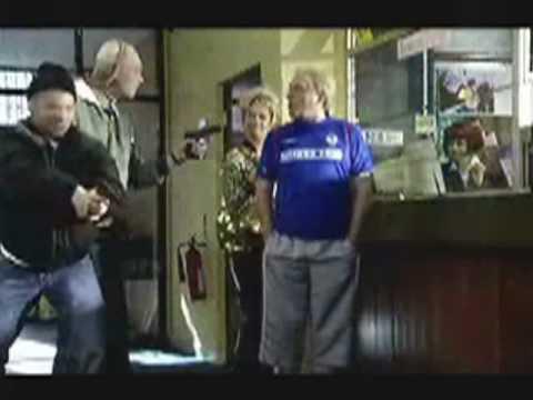 Derek the east belfast linfield supporters club member
