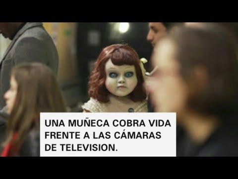 UNA MUÑECA COBRA VIDA FRENTE A LA S CAMARAS DE TELEVISION
