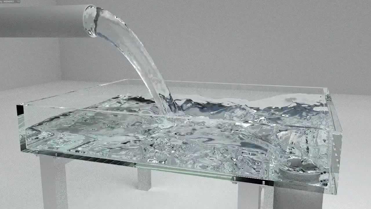 Blender cycles realistic fluid simulation youtube - Water kamer model ...