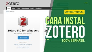 Gambar cover Cara Download dan Instalasi Zotero Dengan Mudah - 100% Berhasil