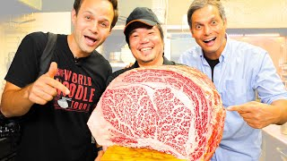 WAGYU Beef EXTREME Steak (A5 Level!) in Japan + OLIVE Wagyu Udon + BEST UDON Tour of Kagawa, Japan!