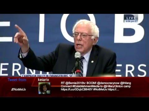 Bernie Sanders LIVE in Orangeburg, South Carolina