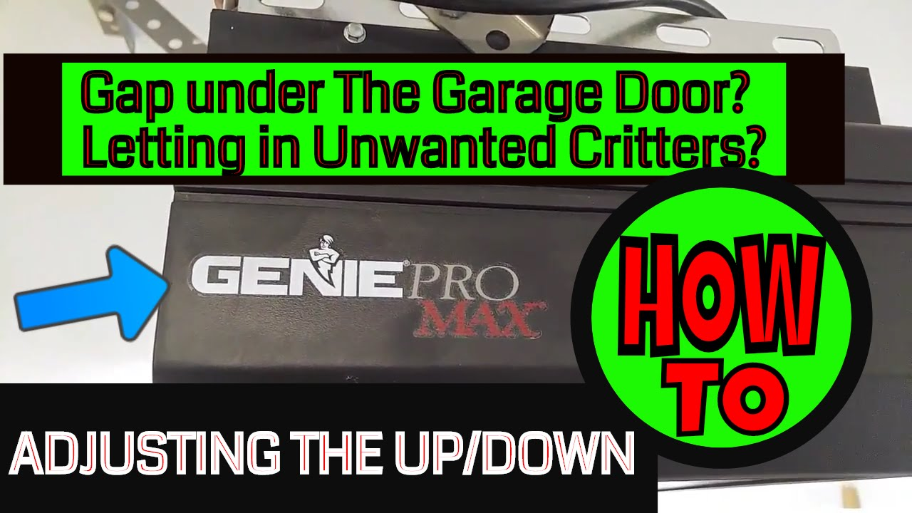 Genie Pro Max Garage Door Opener Adjusting The Up Down Youtube