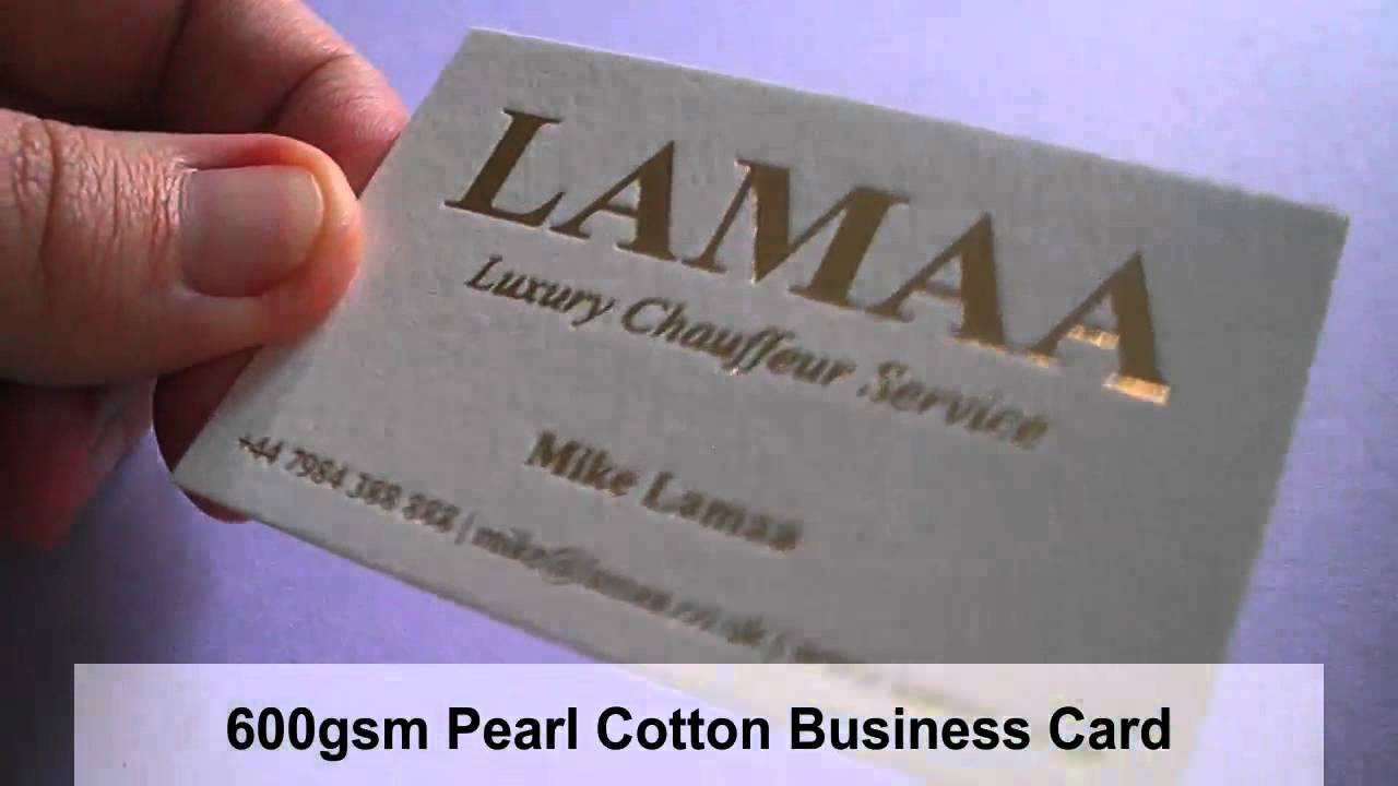 Cotton Business Cards - YouTube