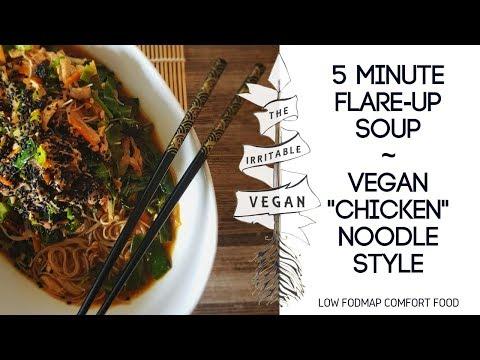 5 Minute Flare-up Soup / Low FODMAP Comfort Food / Vegan
