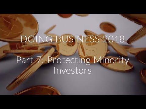 Doing Business 2018 Report: Protecting Minority Investors