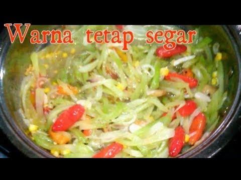 Resep Tumis Labu Siam Warna Tetap Fresh Youtube