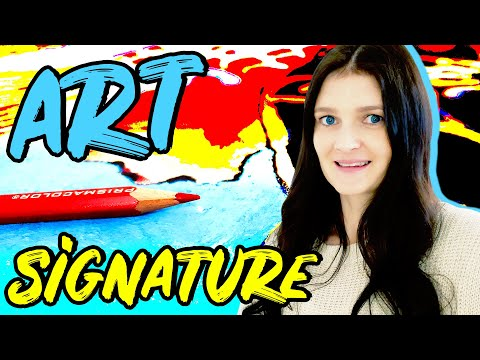 How To Sign A Painting On Canvas 🎨 5 ART SIGNATURE IDEAS