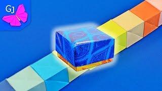 Волшебные Оригами Кубики из бумаги ❀ Антистресс трансформер в коробочке