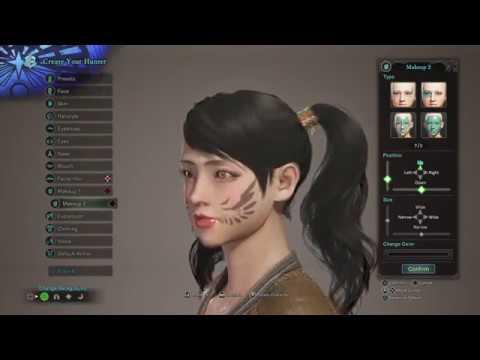 Monster Hunter World Female Character Creation All Hair Face Etc Youtube