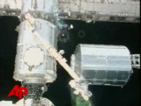 European Laboratory Hoisted Toward ISS