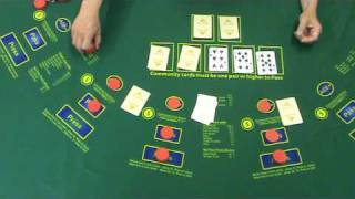Rollem Holdem 2 Pairs- Las Vegas Casino poker game; Texas Holdem, playing against the house