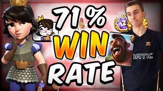 71% WIN RATE w/ NEW HOG RIDER LOG BAIT DECK — Clash Royale