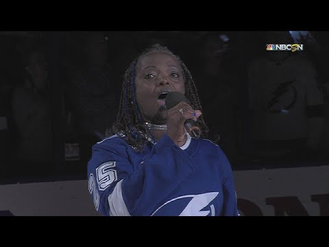 BOS@TBL, Gm2: TSGT. Bryson sings the national anthem
