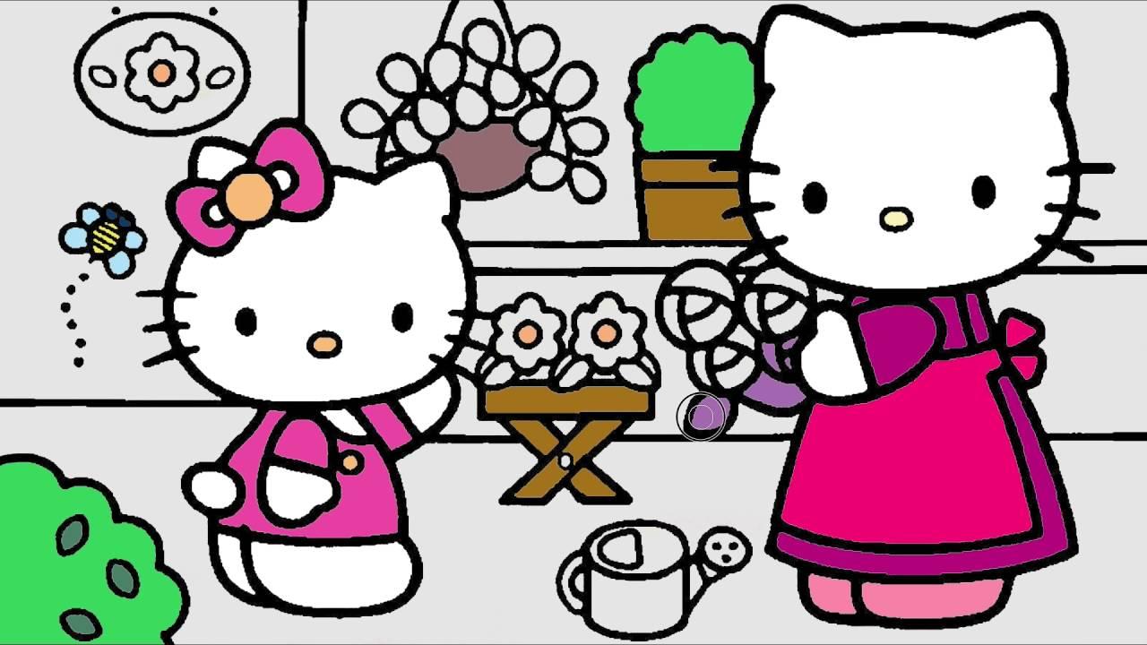 Hello Kitty Resim çizgi Film Karakter Boyama Sayfası 4 Minik Eller