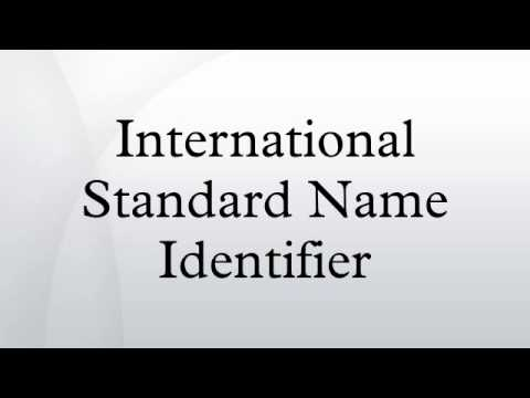 International Standard Name Identifier