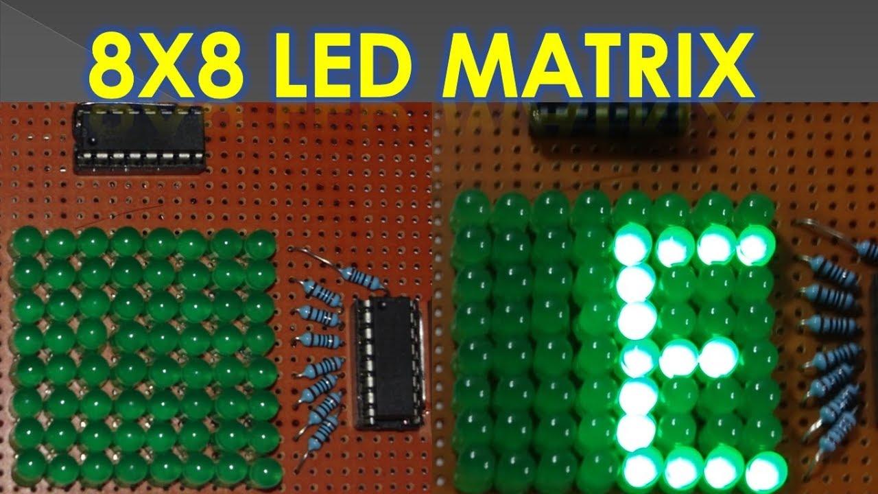 How to make Led Matrix   8X8 Led Matrix